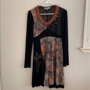 Vitrin Design Mixed Media Dress Unique